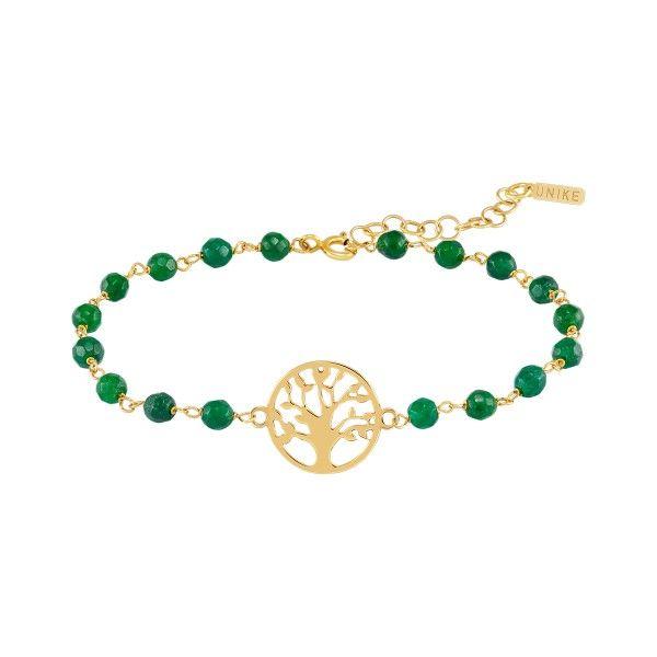 PULSEIRA UNIKE FUN S21 BEADS GREEN TREE GOLD UK.PU.0117.0133