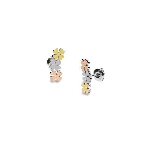 BRINCOS ONE JEWELS LUCKY FLOWER OJLFE023T