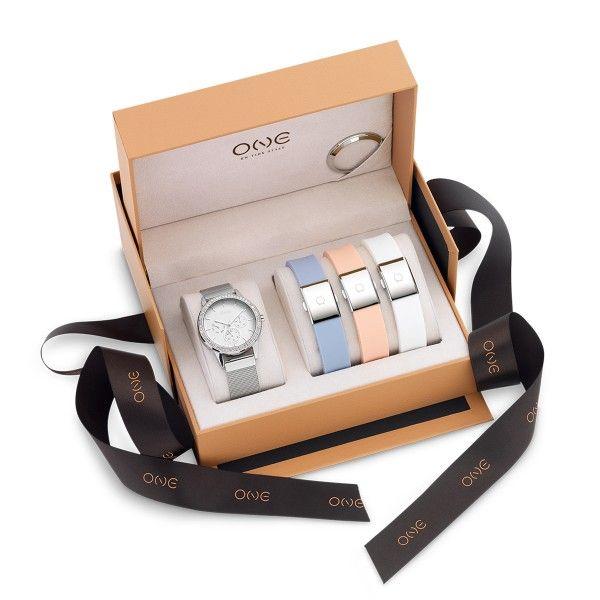 BOX ONE GLORIOUS PRATEADO/BRANCO/AZUL/CORAL OL9095IC12L