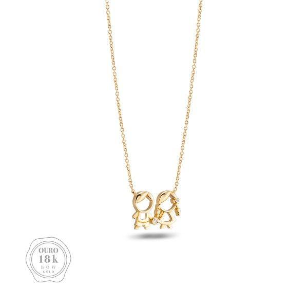 COLAR BOW GOLD BOY & GIRL BW.CL.0118.0014