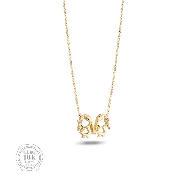 COLAR BOW GOLD GIRL & GIRL BW.CL.0118.0015