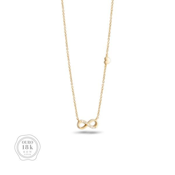 COLAR BOW GOLD INFINITY BW.CL.0118.0018