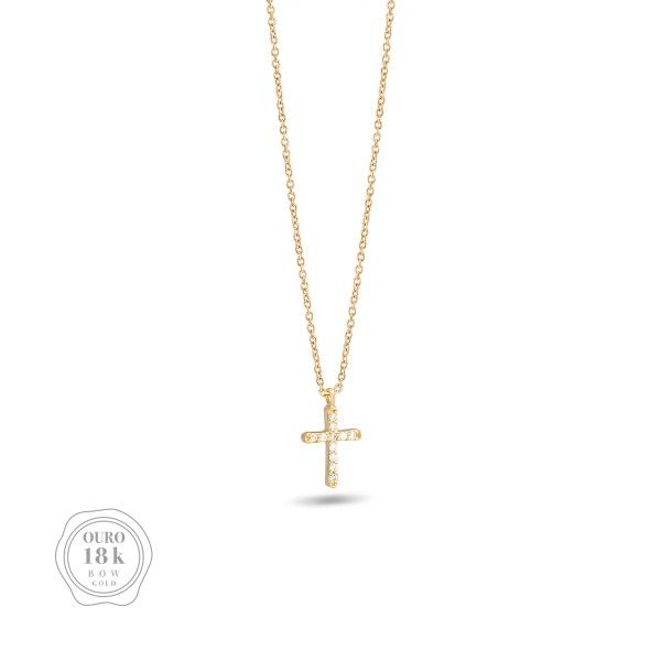 COLAR BOW GOLD CROSS BW.CL.0118.0020