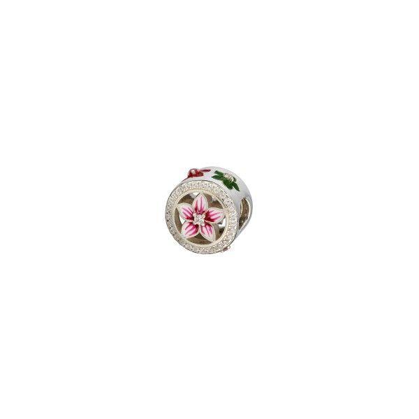 Conta SILVERADO PRATA Flower of Love HE-769-S