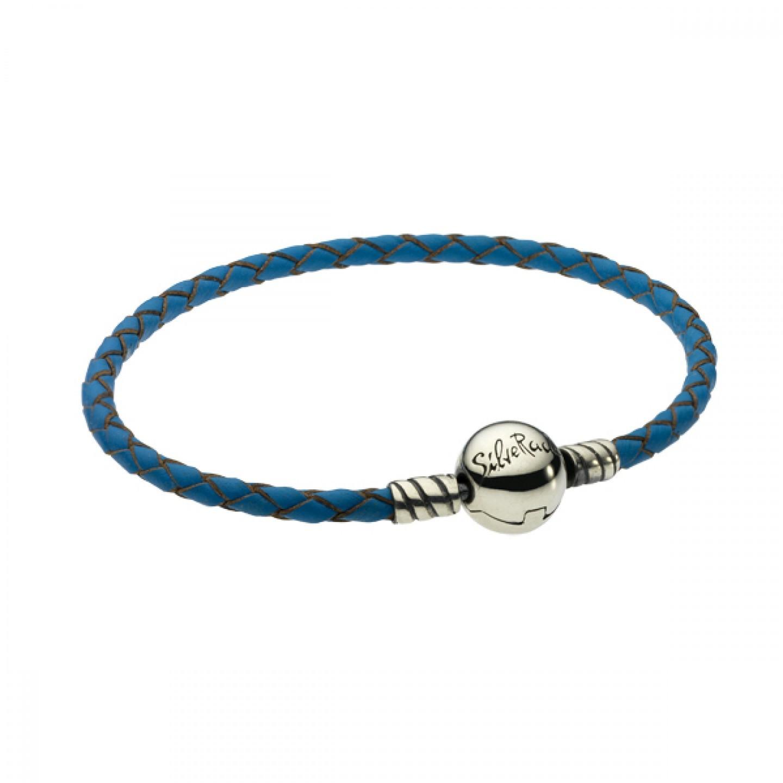 Pulseira SILVERADO Couro Azul 19 Cm