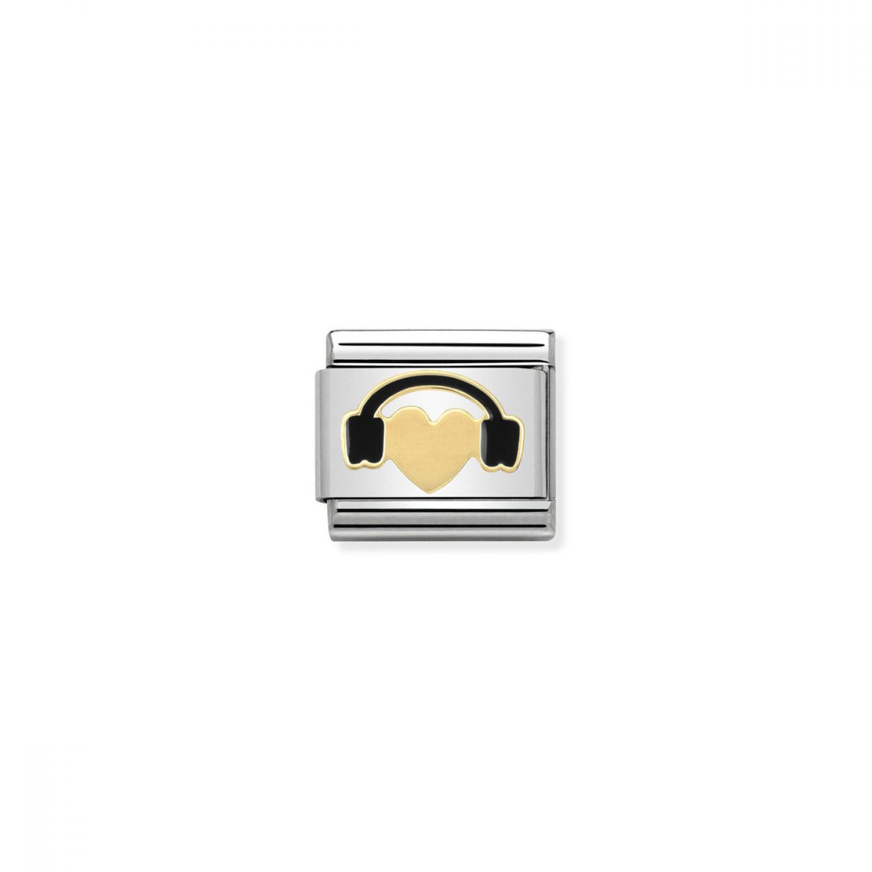 Charm Link NOMINATION Coração com Headphones