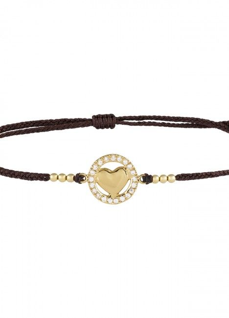 Pulseira LUCKY ELEPHANT Soul Collection Heart dourada