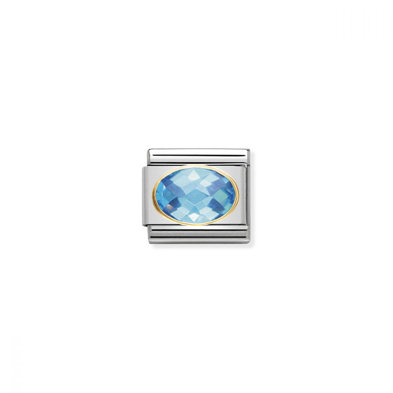 Charm Link NOMINATION Pedra Azul claro