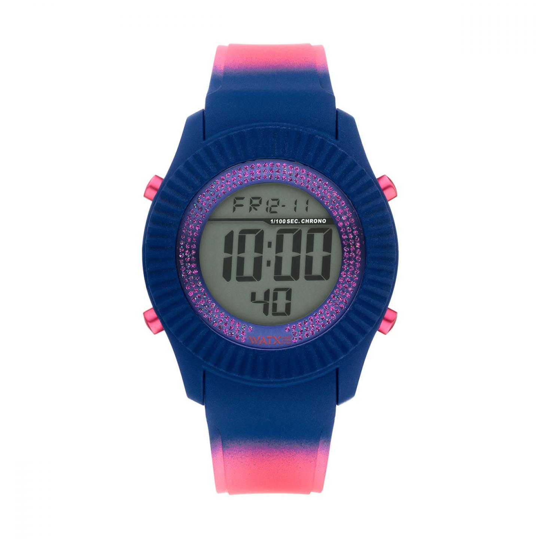 Caixa WATX 43 Digital Psicotropical Rosa e Azul