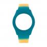 Bracelete WATX Silicone Smart Psicotropical Laranja e Azul