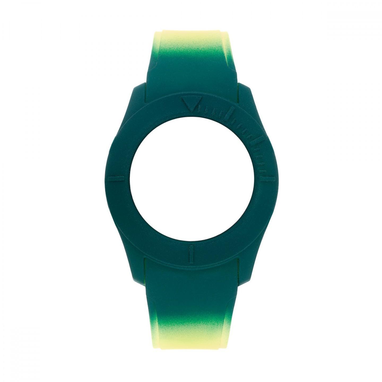 Bracelete WATX Silicone Smart Psicotropical Amarelo e Verde