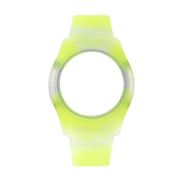 Bracelete WATX 43mm Silicone Smart Tie Dye Amarelo COWA3032