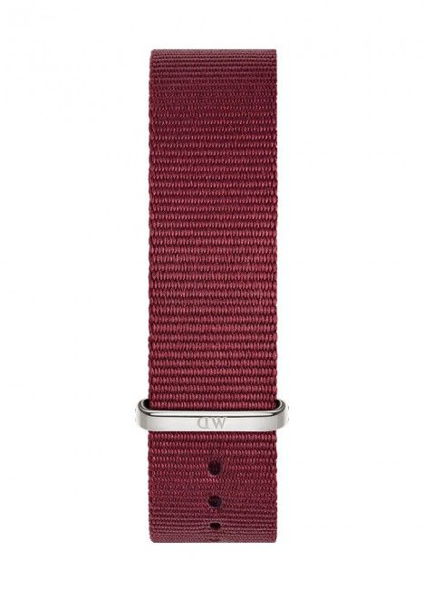 Bracelete DANIEL WELLINGTON Nato Roselyn Bordeaux 20mm S