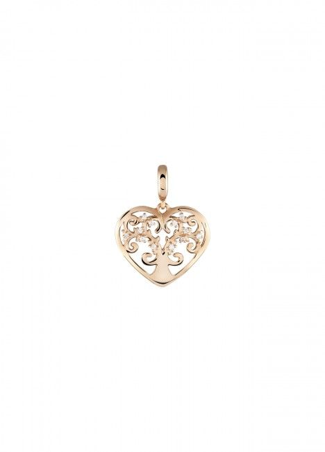 Charm BOW HAPPY Love Stories Heart Tree of Life Rose Gold