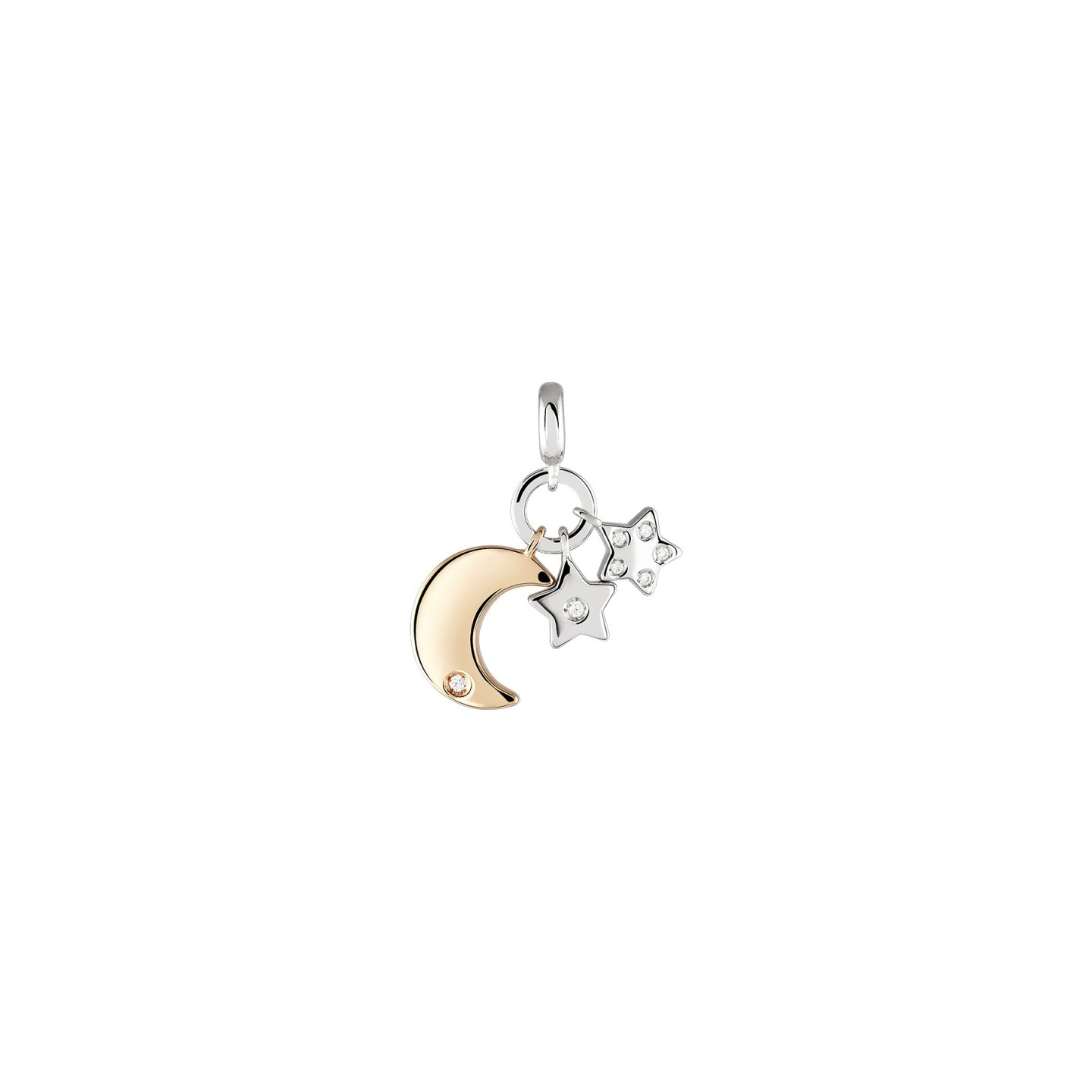 Charm BOW HAPPY Love Stories Moon & Stars