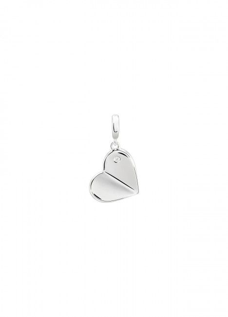 Charm BOW HAPPY Love Stories Heart Silver