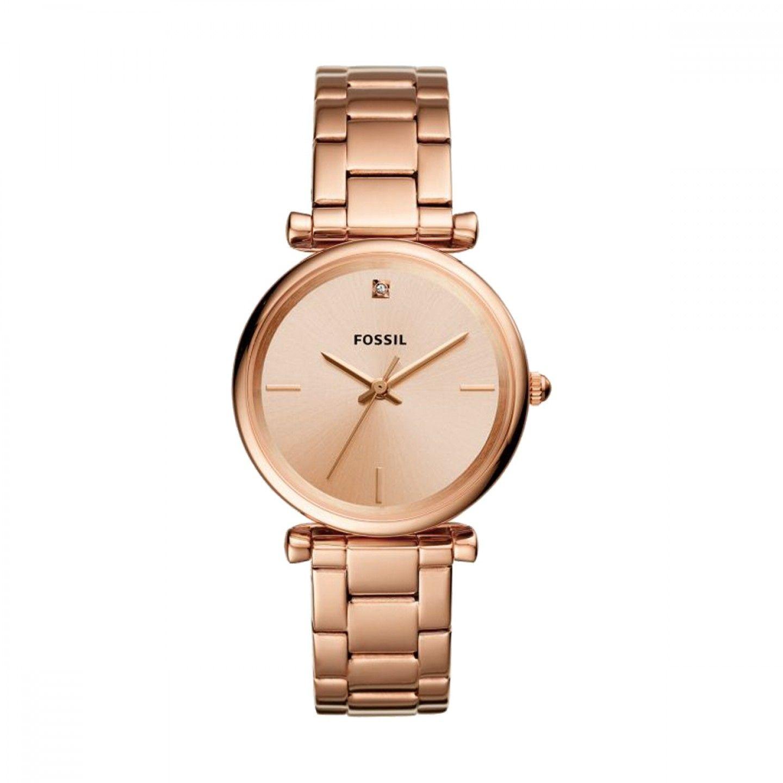 Relógio FOSSIL Carlie Ouro Rosa