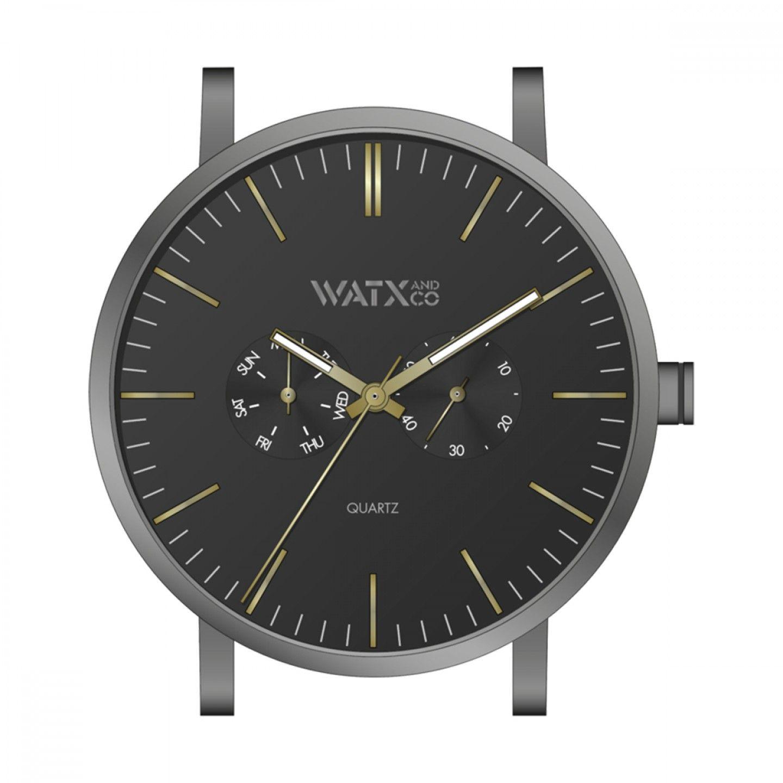 Caixa WATX 44 Analogic Basic Preto e dourado