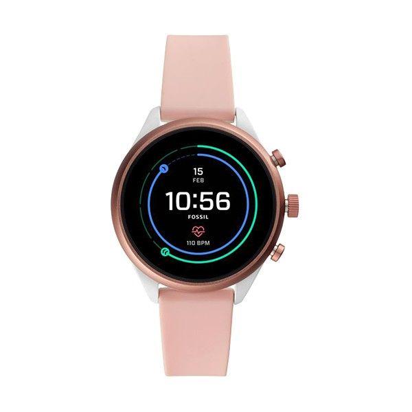 Relógio Inteligente FOSSIL Q Sport Rosa (Smartwatch) FTW6022