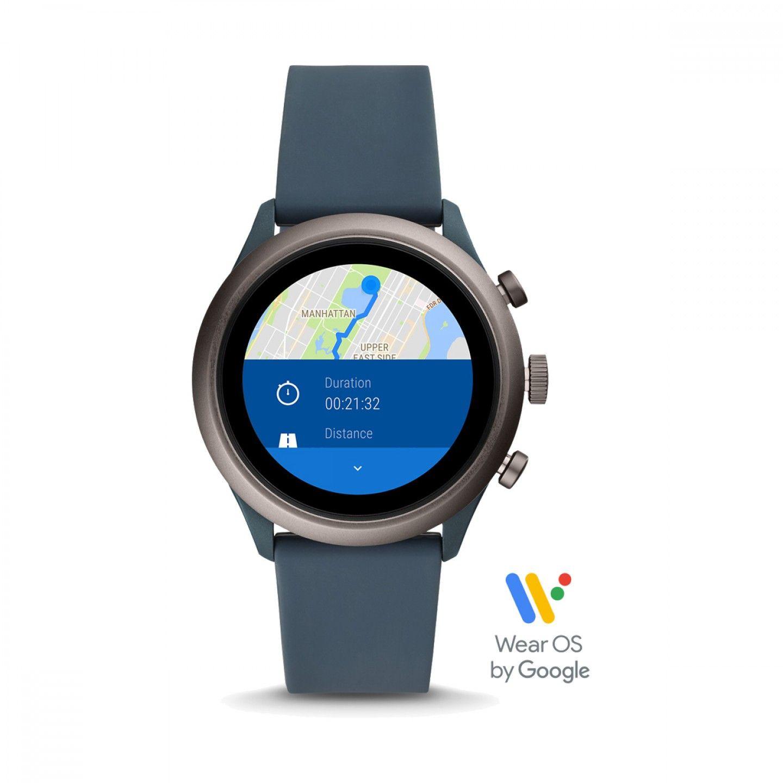 Relógio Inteligente FOSSIL Q Sport Azul (Smartwatch)