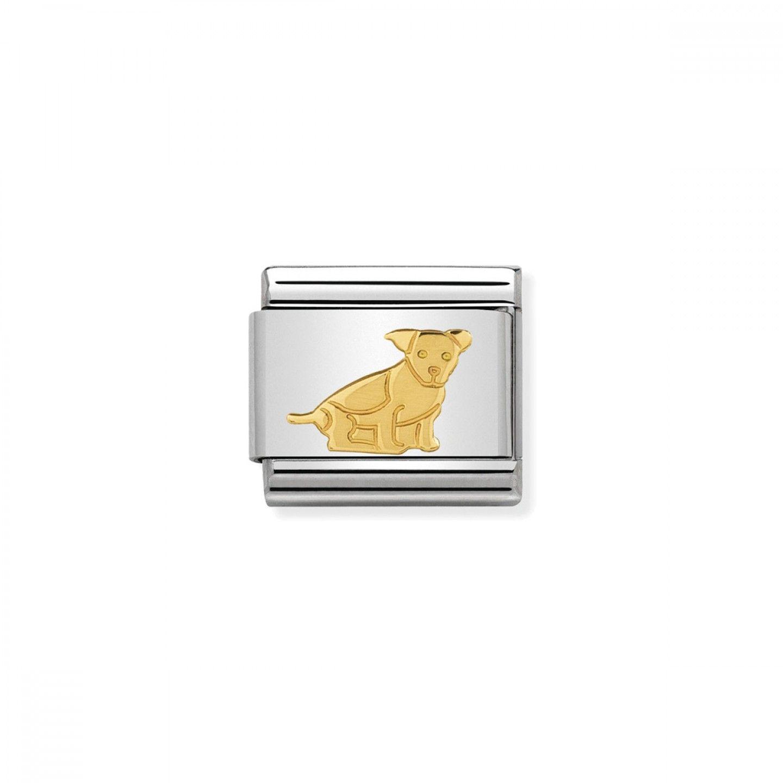 Charm Link NOMINATION, Ouro 18K, Cão sentado