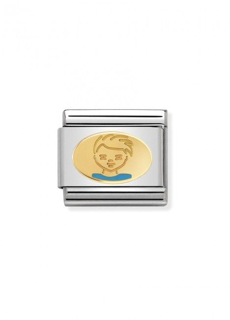 Charm Link NOMINATION, Ouro 18K, Menino