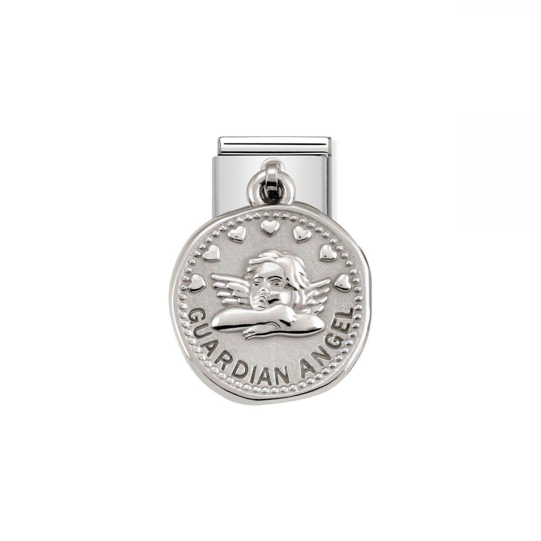 Charm Link NOMINATION, Medalha Wishes Anjo Da Guarda