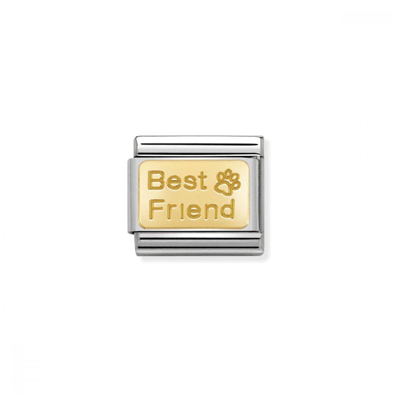 Charm Link NOMINATION, Ouro 18K, Pata do melhor amigo
