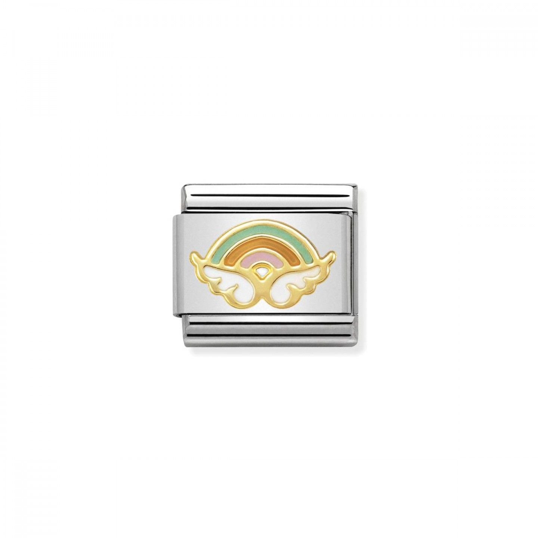 Charm Link NOMINATION, Ouro 18K, Anjo dos desejos (cor)