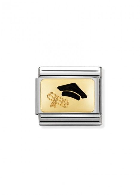 Charm Link NOMINATION, Ouro 18K, Diploma