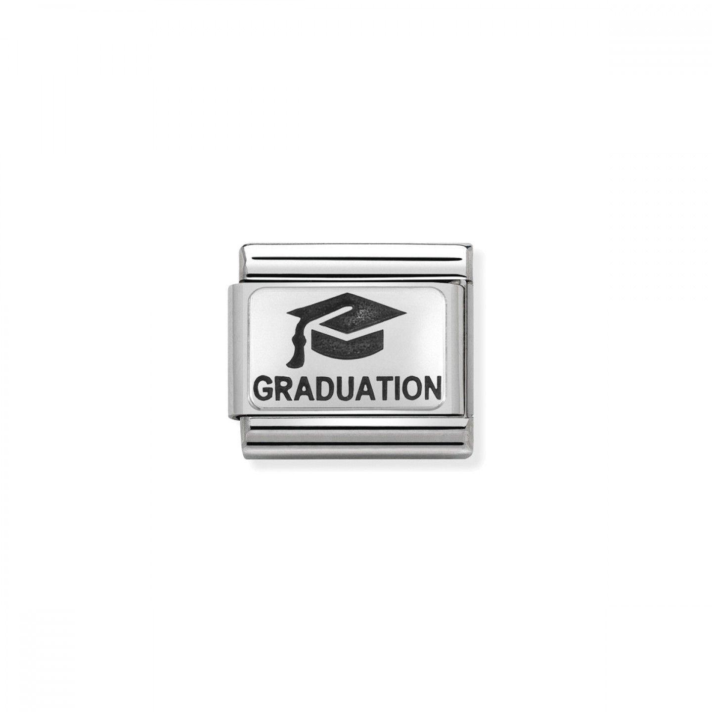 Charm Link NOMINATION, Prata 925, Chapéu De Graduação