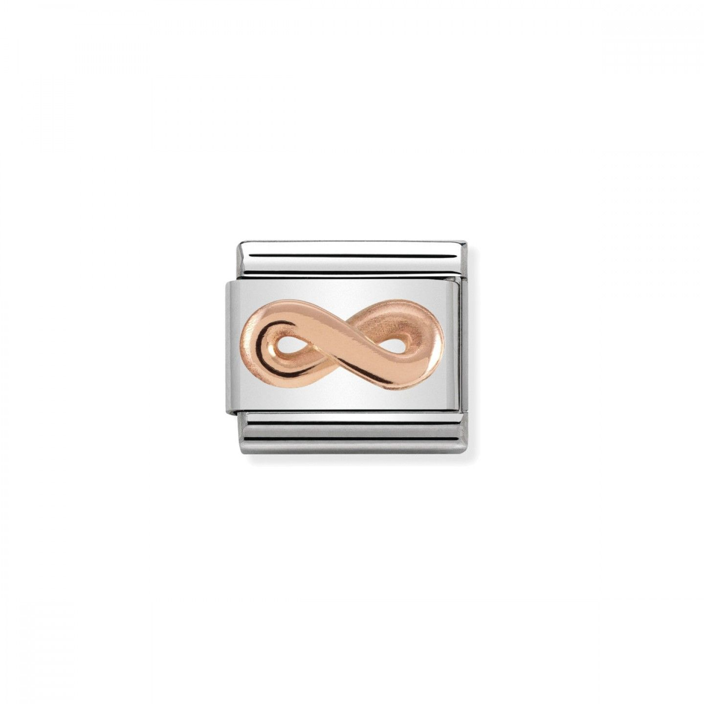 Charm Link NOMINATION, Ouro Rosa 9K, Infinito