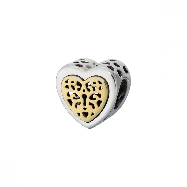 Conta SILVERADO Dourada Treasure Heart