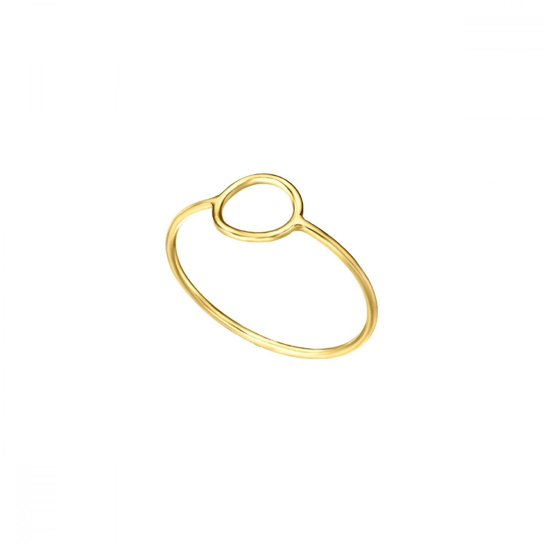 Anel LE CARRÉ círculo ouro branco