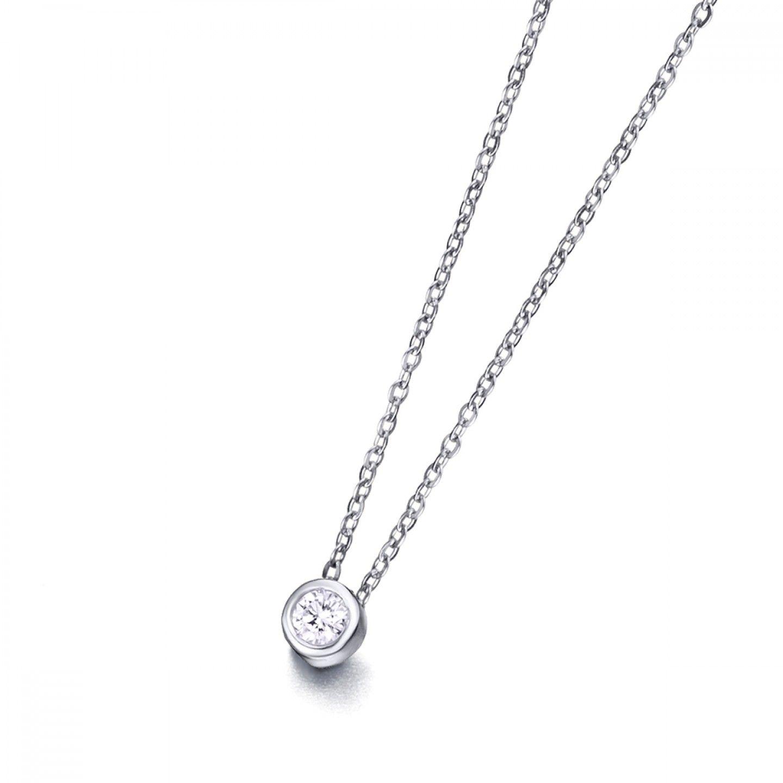 Colar LECARRÉ ouro 18K diamante 0.05 Q.HSI