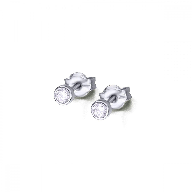 Brincos LECARRÉ ouro 18K diamante 0,10 Q.