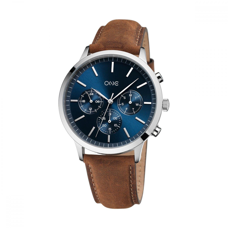 Relógio ONE Solidity Castanho