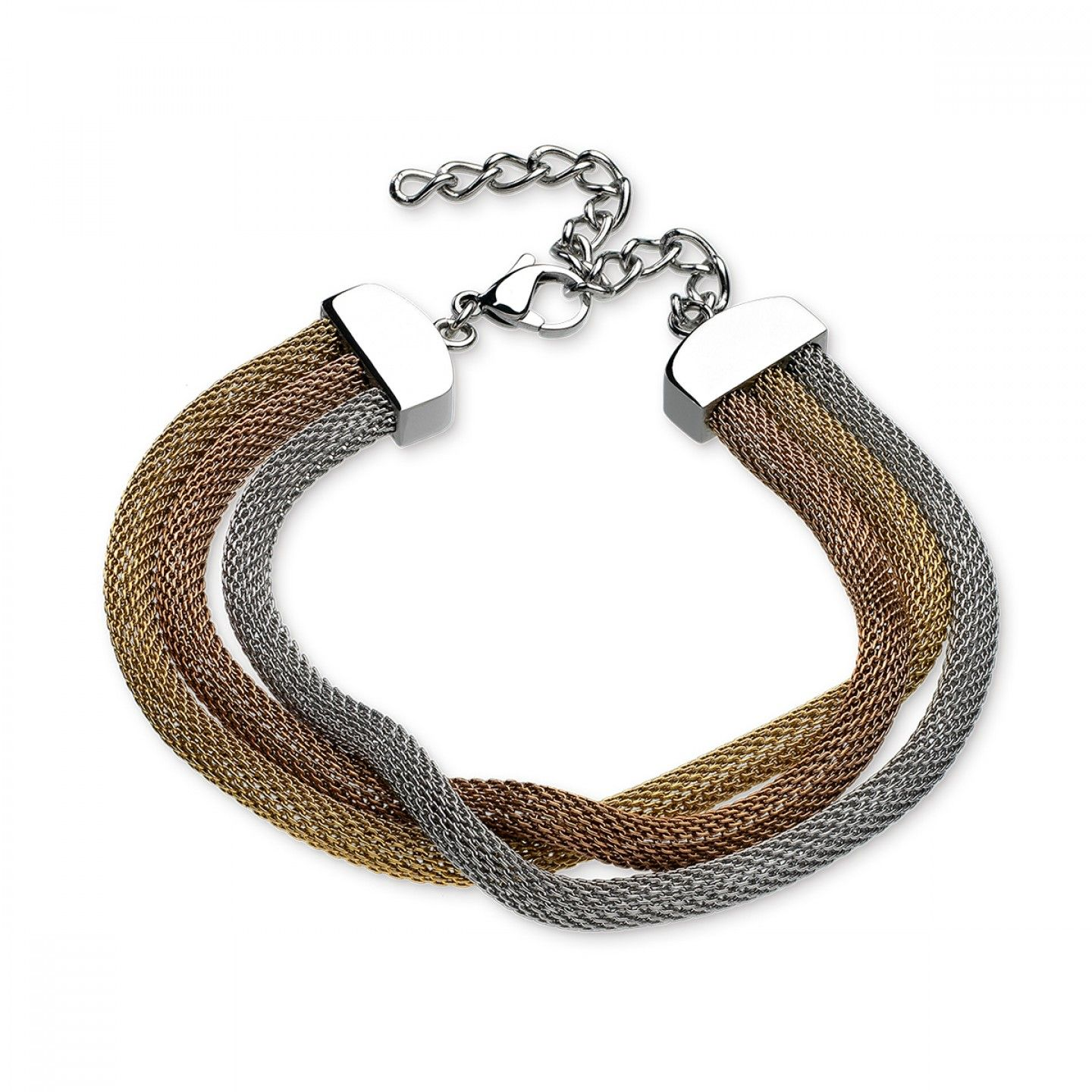 Pulseira ONE JEWELS Mesh Tricolor