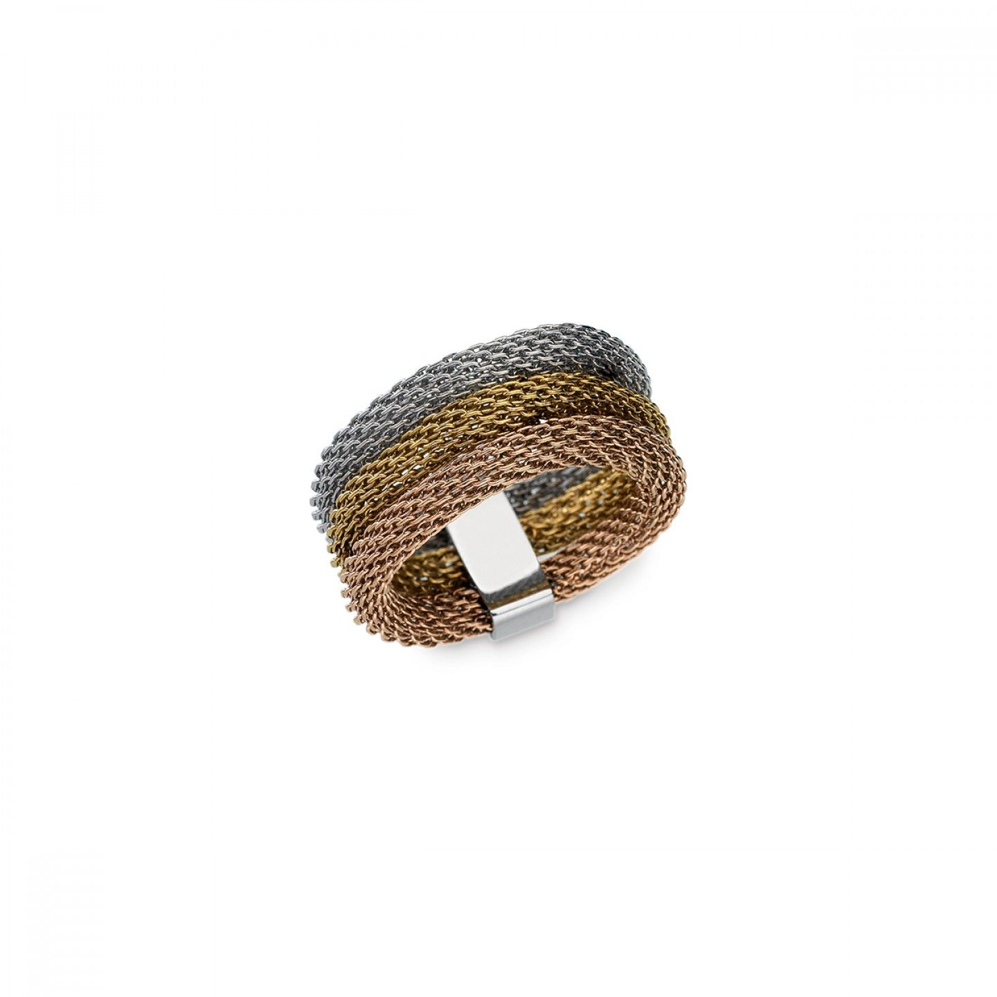 Anel ONE JEWELS Mesh Tricolor