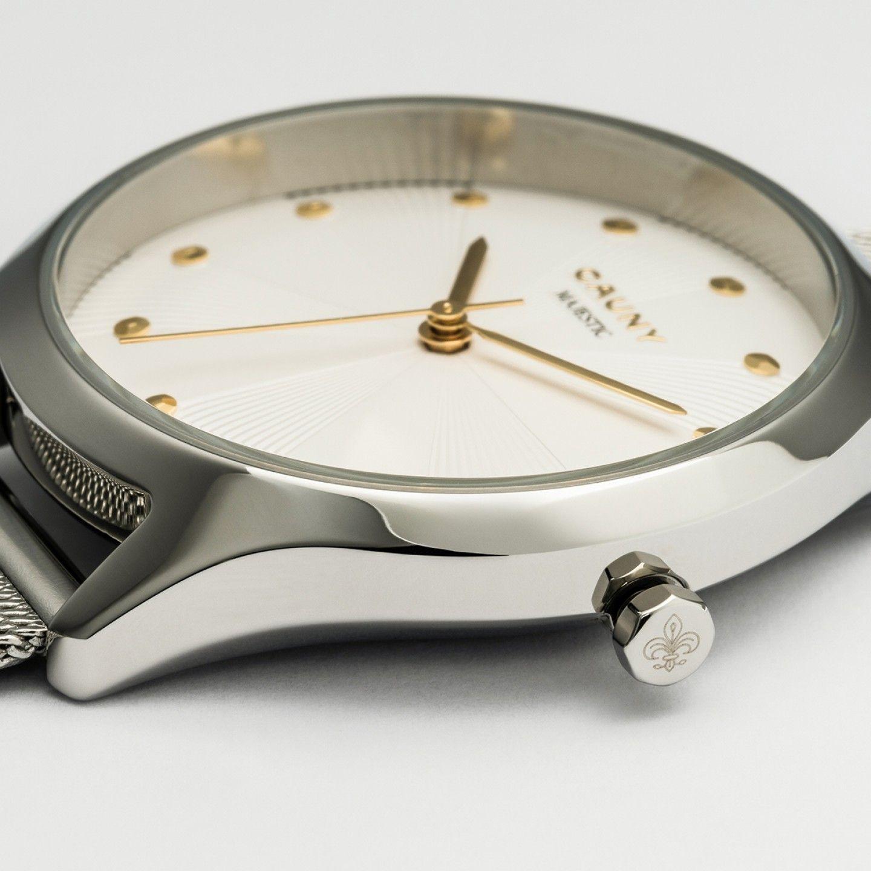 Relógio CAUNY Majestic Paterns Prateado