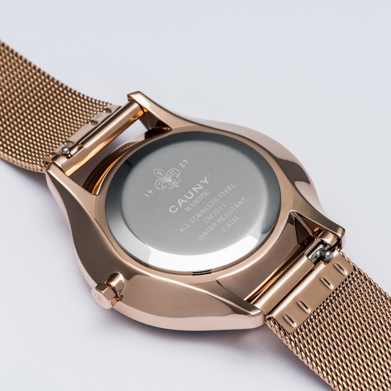 Relógio CAUNY Majestic Ouro Rosa