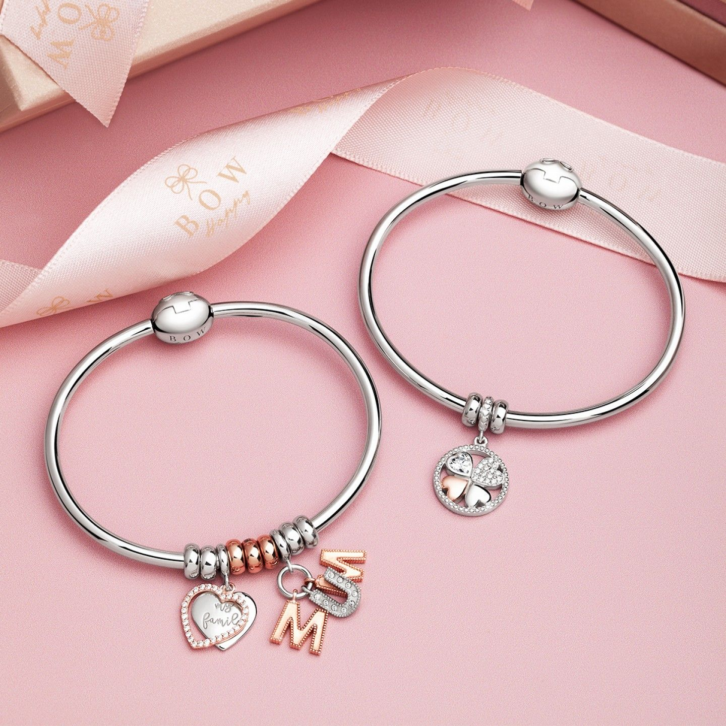 Charm BOW HAPPY Love Stories Mum