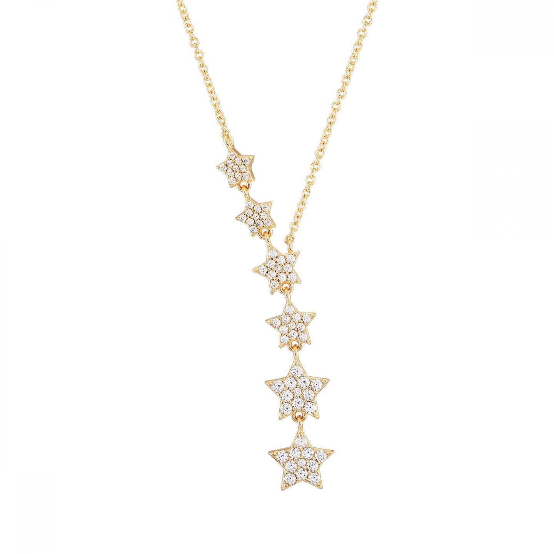 COLAR UNIKE MOON & STARS GOLD STARS