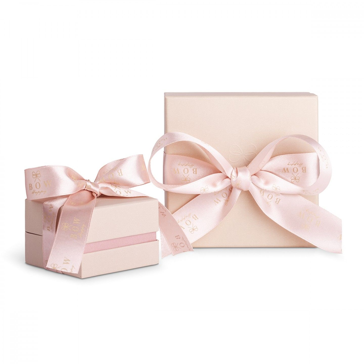 Charm BOW HAPPY Love Stories Flower Rose Gold