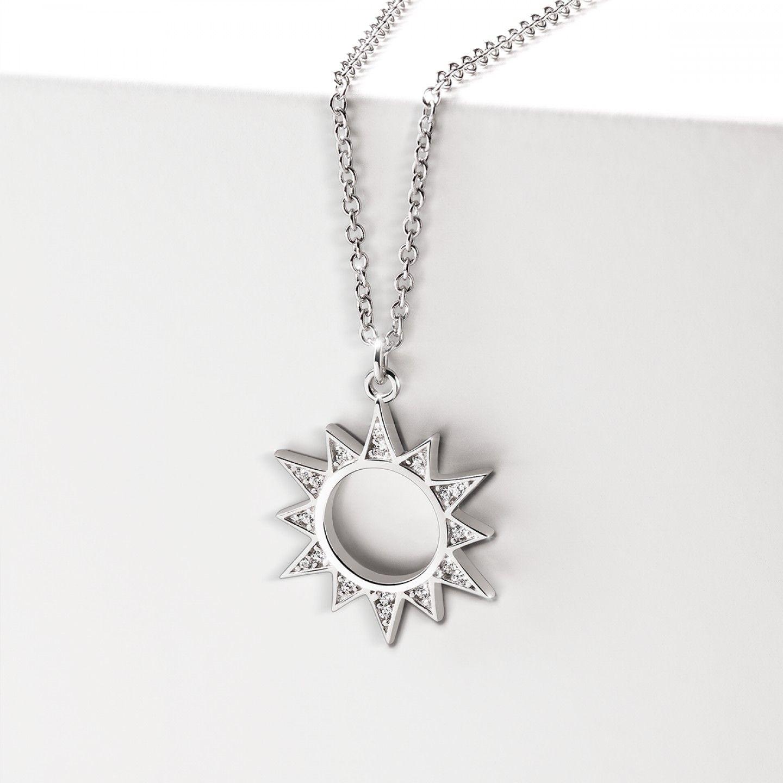 COLAR UNIKE MOON & STARS SUN SILVER