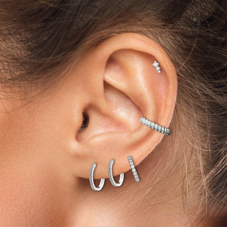 BRINCO UNIKE MIX & MATCH EAR CUFF TWIST SILVER