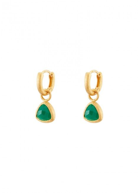 BRINCOS LUCKY ELEPHANT SOUL COLLECTION - GREEN STONE