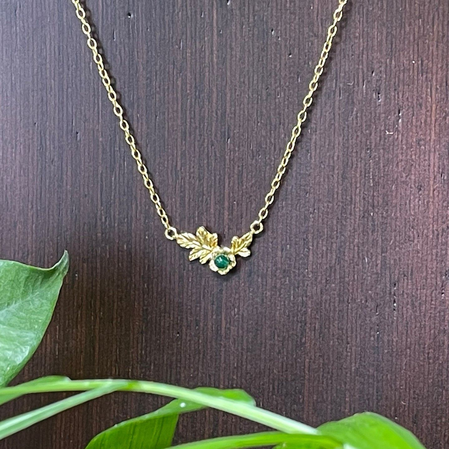 COLAR LUCKY ELEPHANT NATURE COLLECTION - GREEN FLOWER