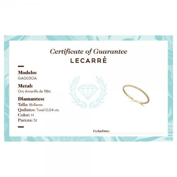 ANEL LECARRÉ ouro 18K diamante 0,04 Q.HSI GA003OA.15