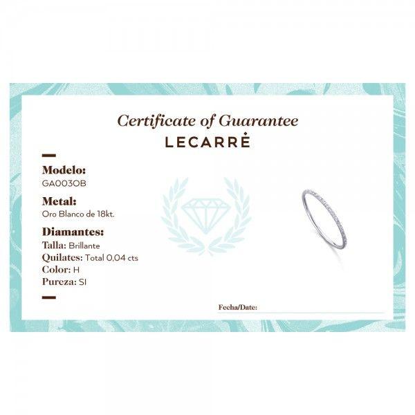 Aliança LECARRÉ ouro 18K diamante 0.04 Q.HSI GA003OB.15